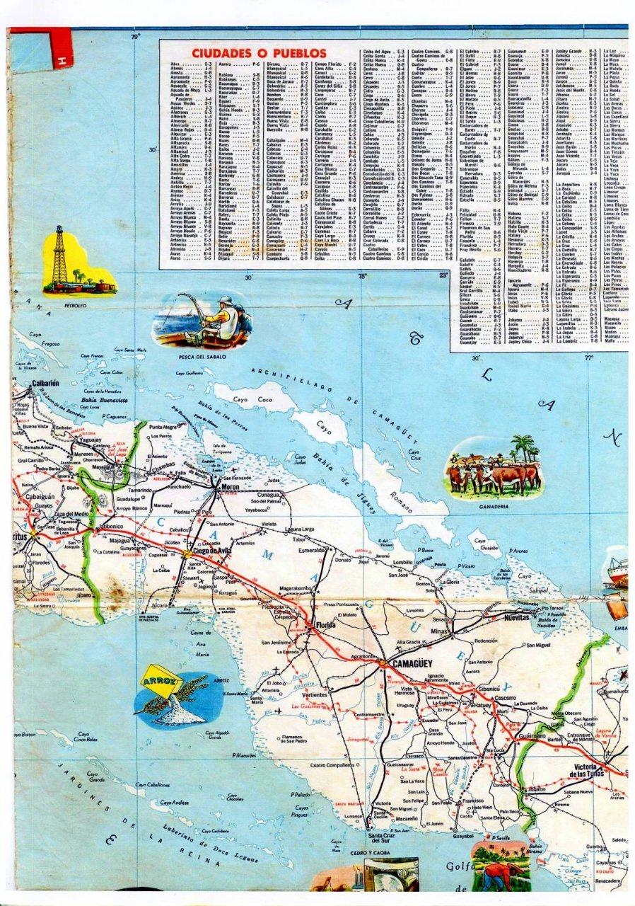 297. 1956. Карта Кубы и Гаваны. 2 лист, 3 фрагмент
