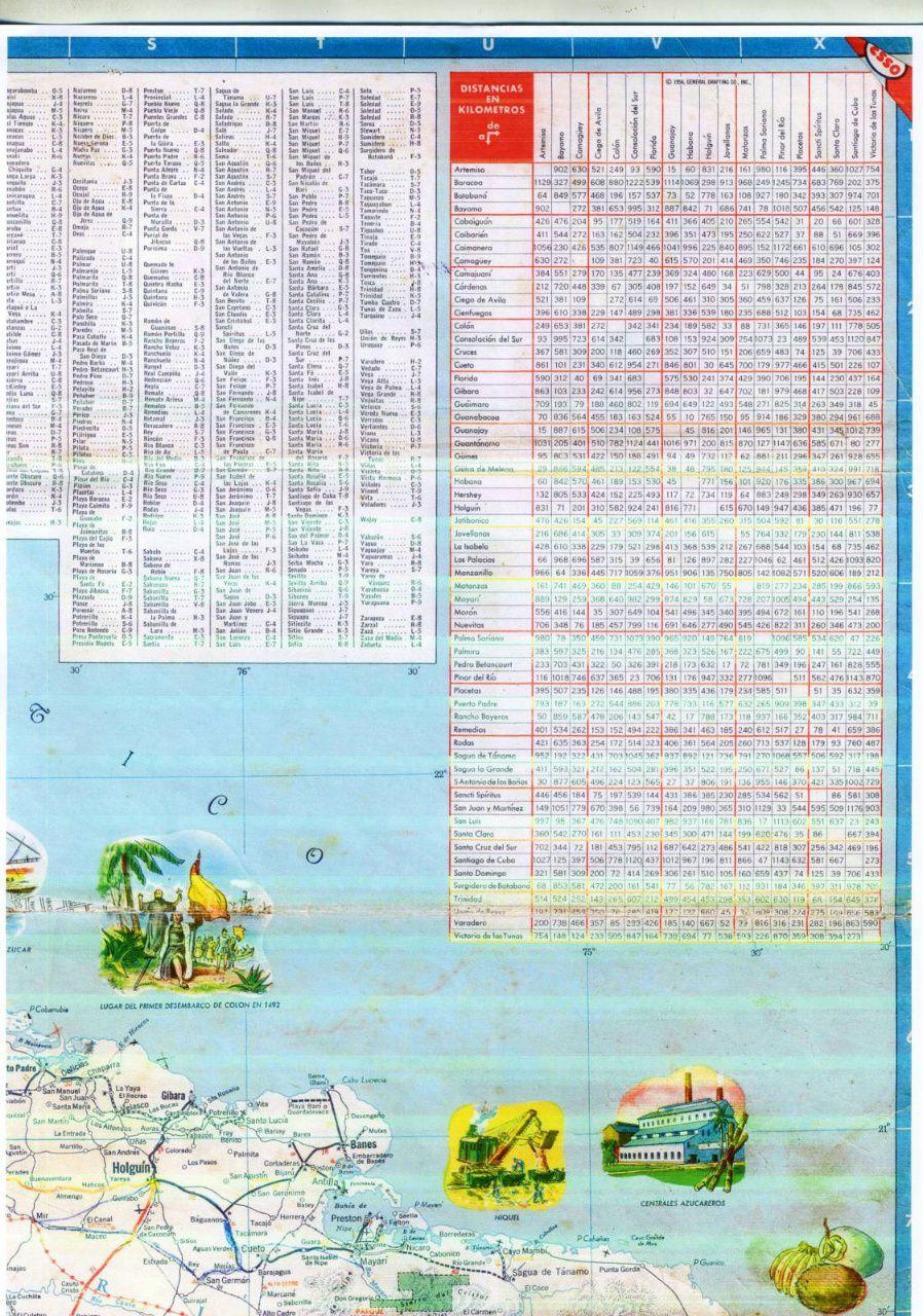 508. 1956. Карта Кубы и Гаваны. 2 лист, 4 фрагмент