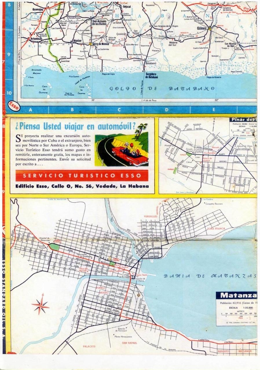 299. 1956. Карта Кубы и Гаваны. 2 лист, 5 фрагмент