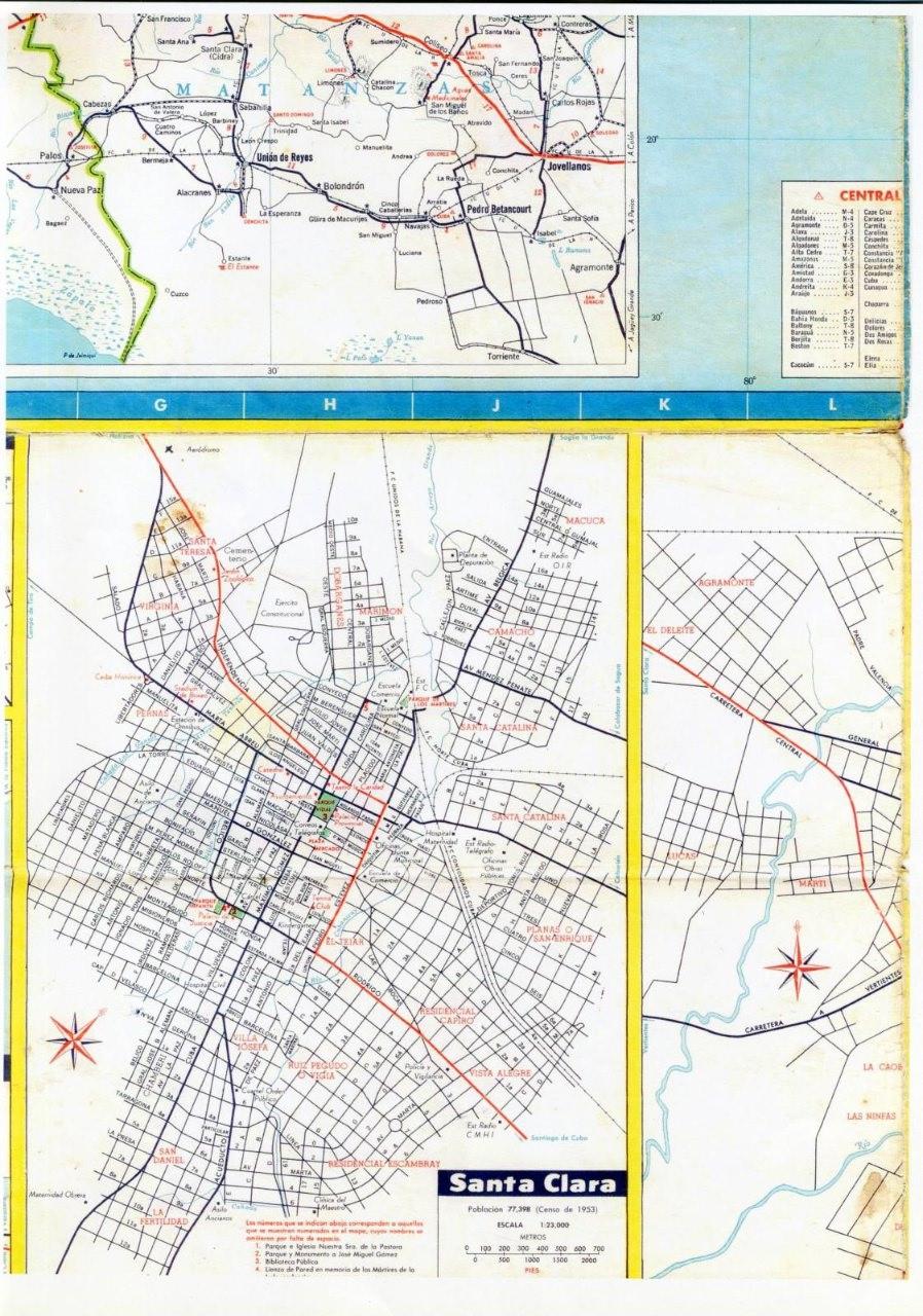 510. 1956. Карта Кубы и Гаваны. 2 лист, 6 фрагмент