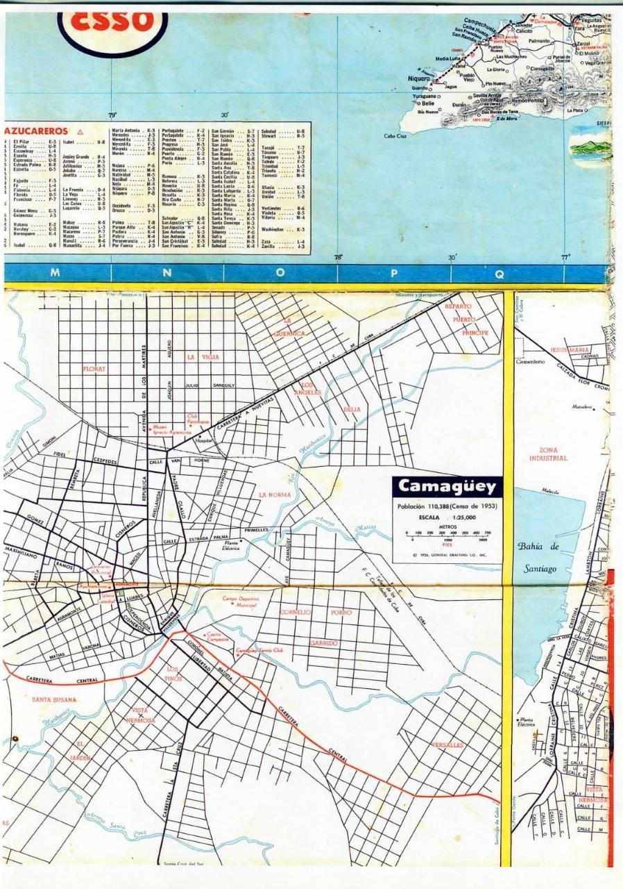 511. 1956. Карта Кубы и Гаваны. 2 лист, 7 фрагмент