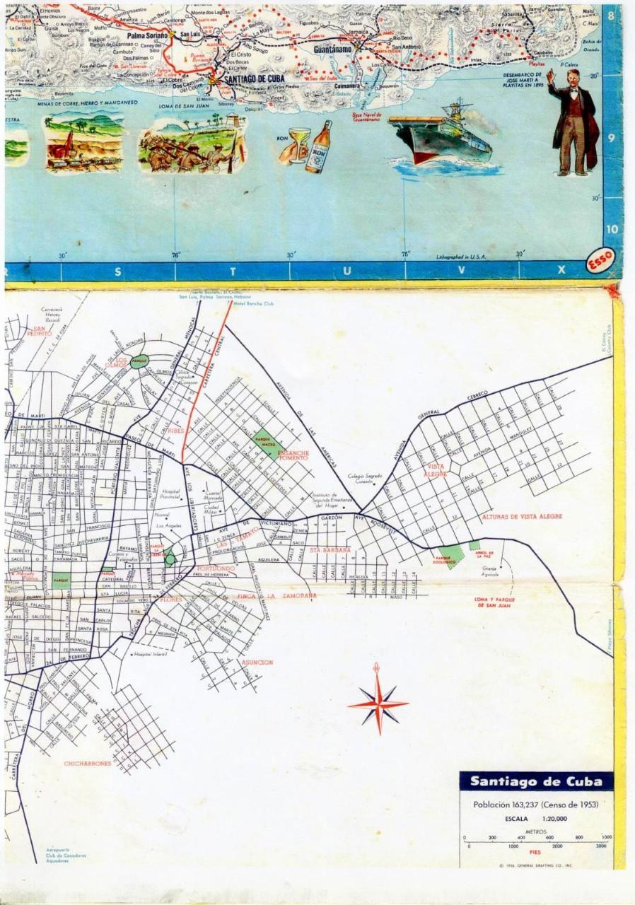 302. 1956. Карта Кубы и Гаваны. 2 лист, 8 фрагмент