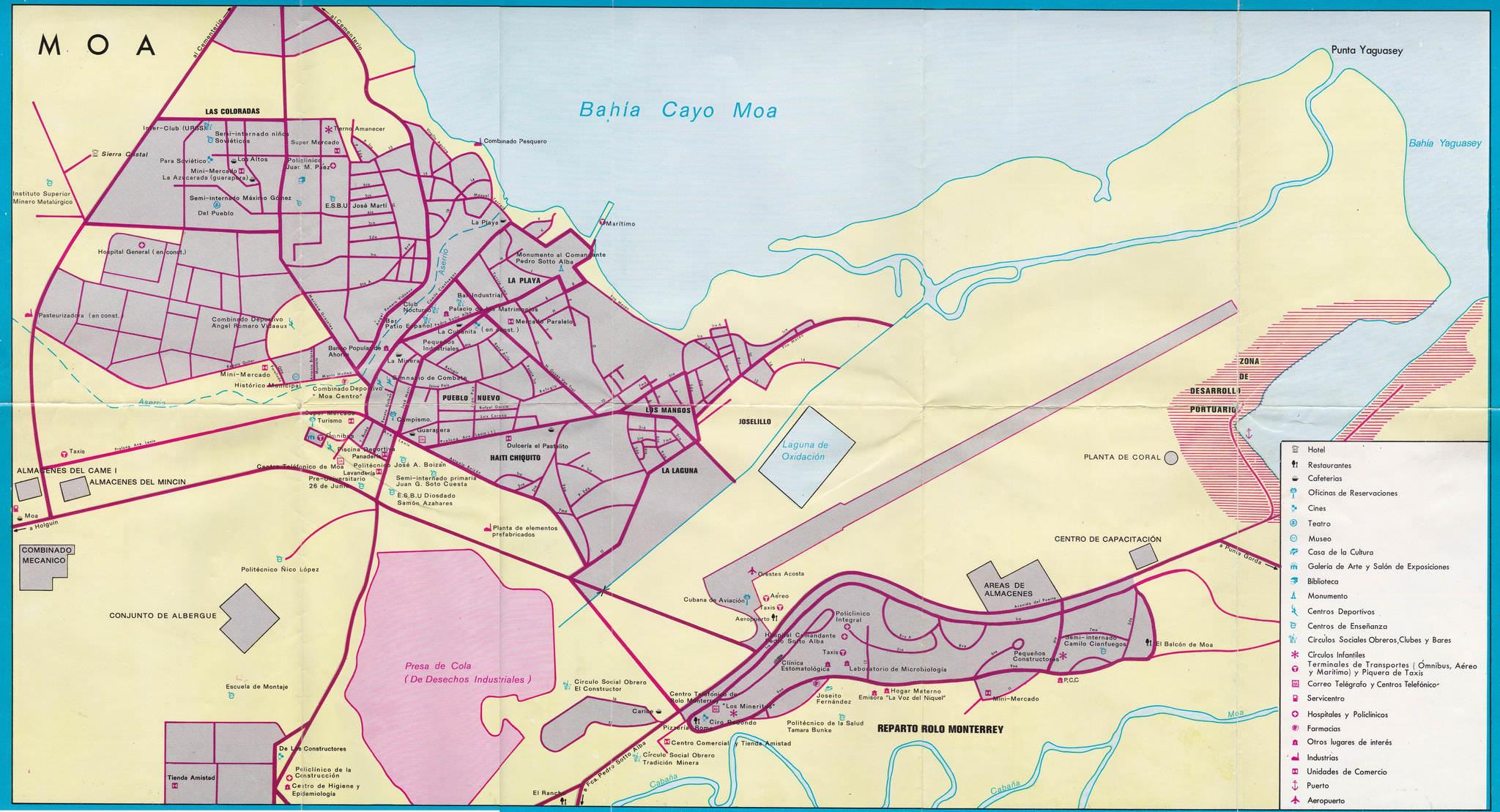 304. 1986. Карта Моа.