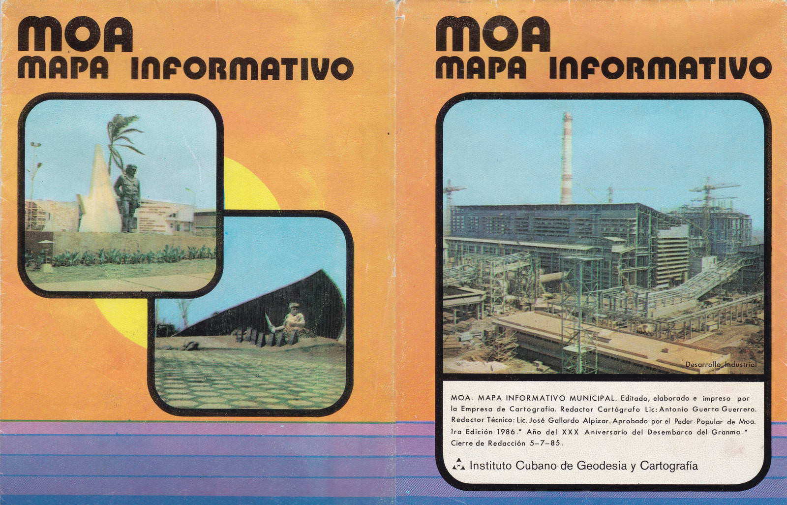 1986. Карта Моа. Обложка