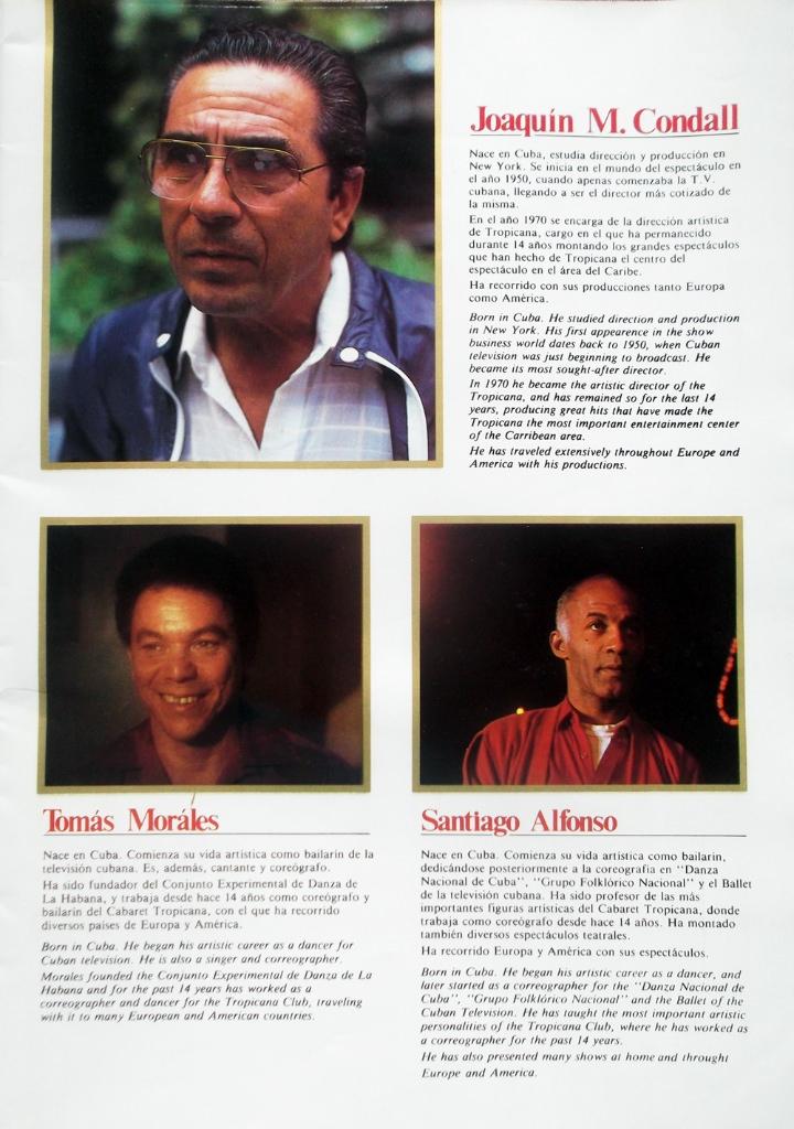 Рекламный журнал кабаре «Тропикана». 80-е годы. -03