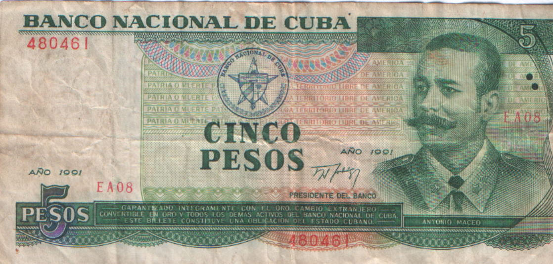 408. 5 песо, титул, 1991