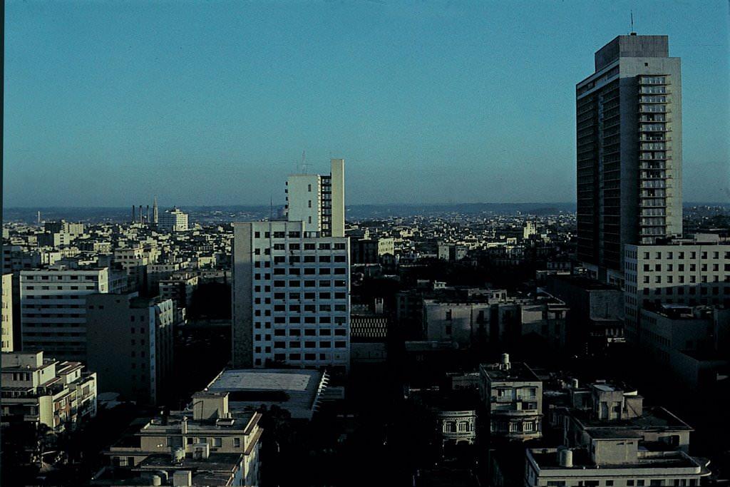 1975. Гостиница «Гавана Либре» в сумерках