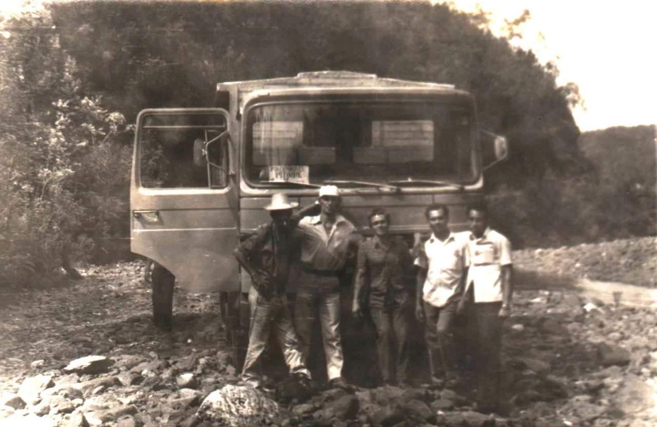 1978-1982. Фото 08. На речке Кайо Гуам