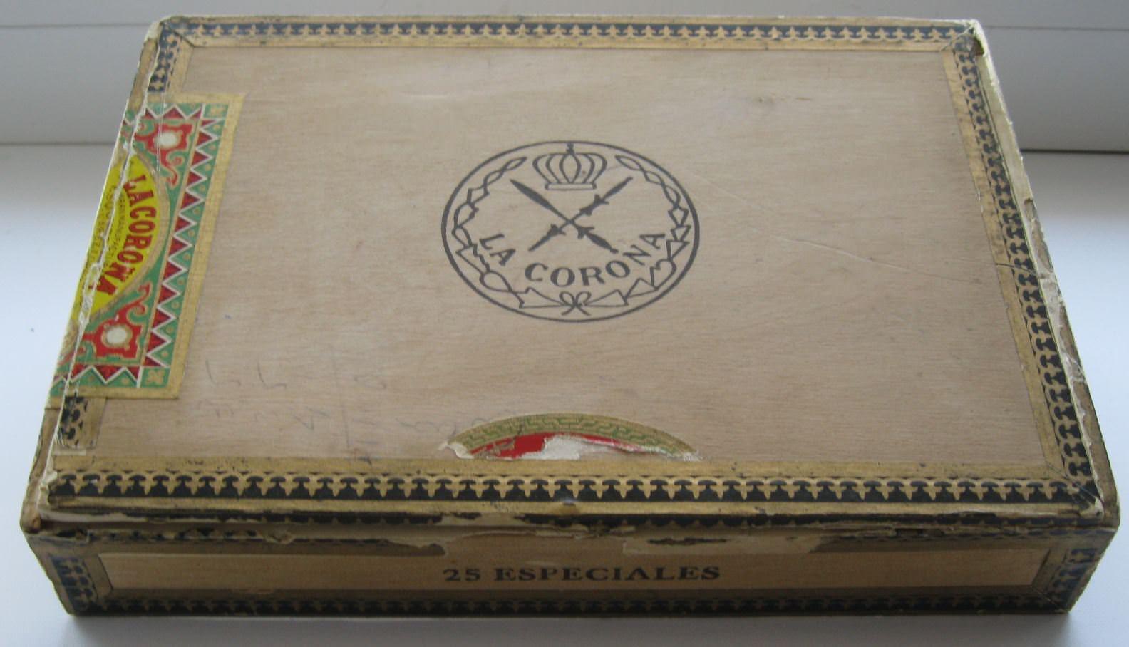 1966. Коробка от гаванских сигар.
