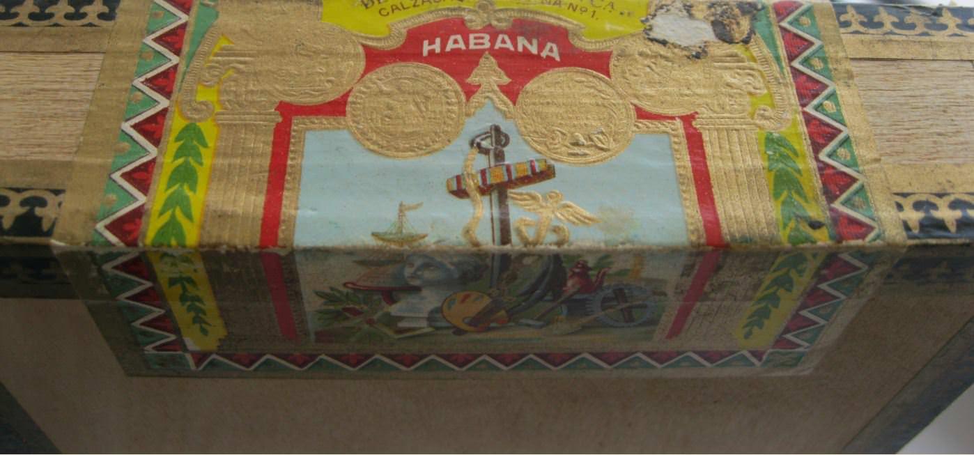 1966. Коробка от гаванских сигар. Фрагмент.