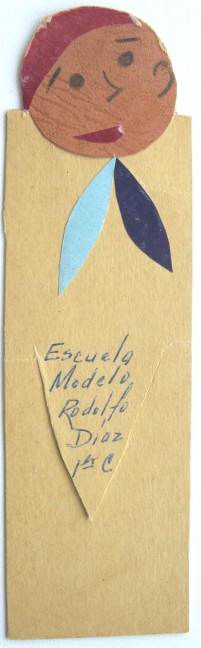 1967. Закладка для книг - подарок учащегося кубинской школы. Гавана.