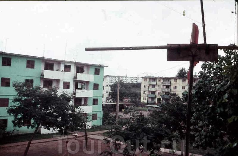 1985-1986. Вид с балкона