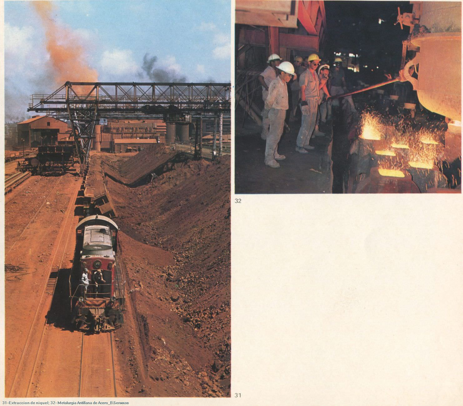 031. Extraccion de niquel; 032. Metalurgia Antillana de Acero.