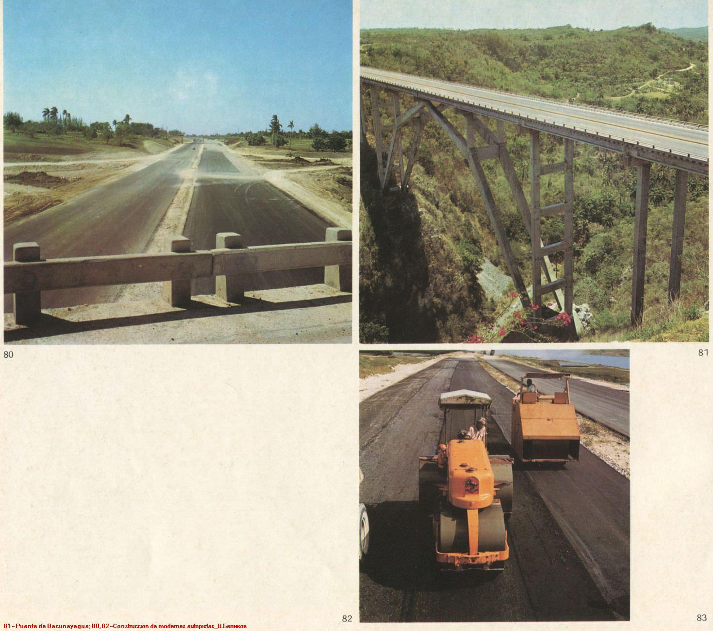 081. Puente de Bacunayagua. 080,082 - Construccion de modernas autopistas