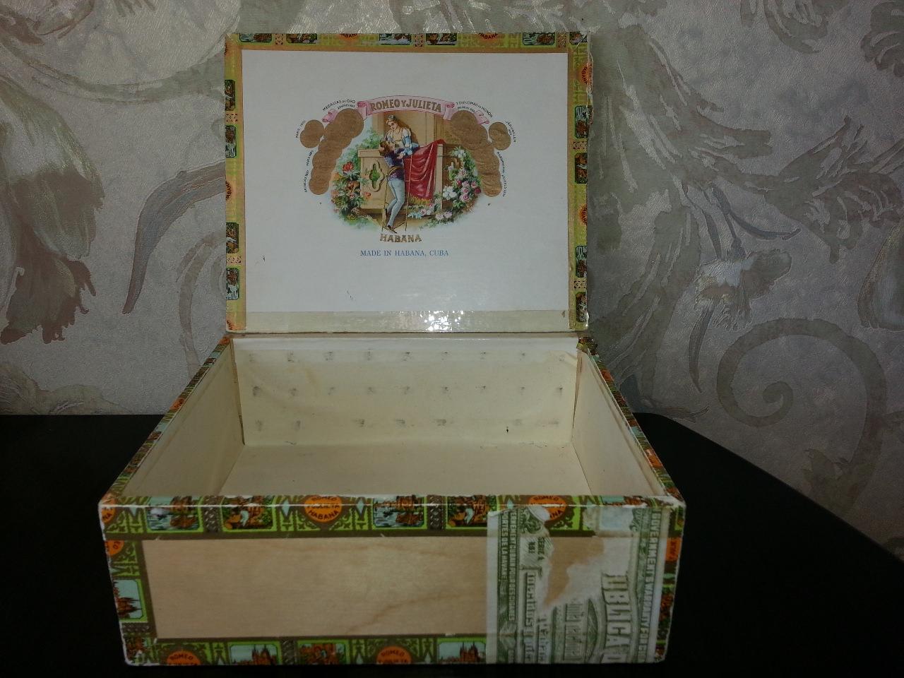 Коробка из-под сигар «Ромео и Джульетта». Вид 1.