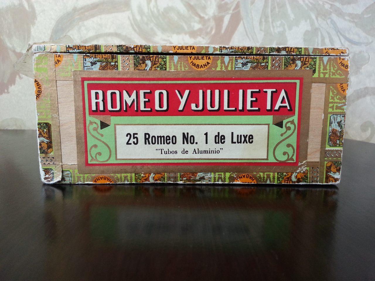 Коробка из-под сигар «Ромео и Джульетта». Вид 3.