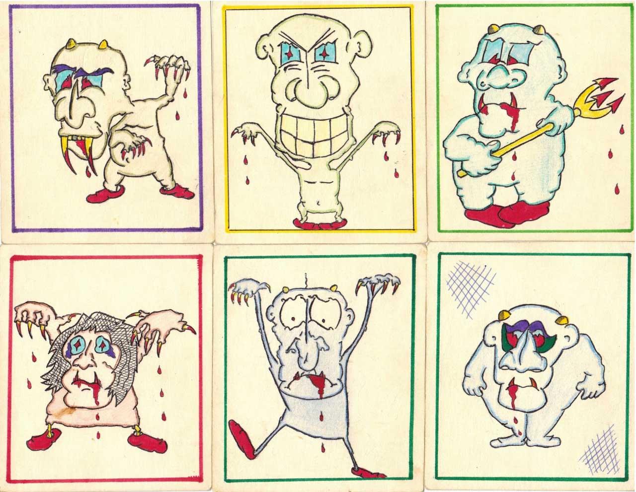Карикатура, нарисованная Шевченко Антоном. 1985-1987