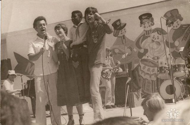 1978. Иосиф Кобзон, Ирина Понаровская и Дин Рид