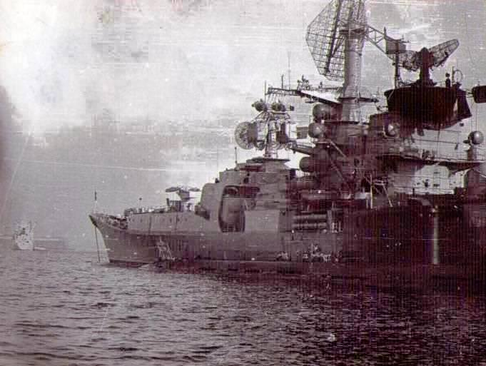 Февраль 1985.  Один из кораблей ВМФ СССР