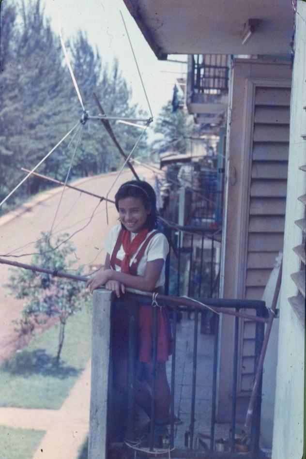 1982-1984. Девочка-кубинка Ярине: дочка соседей по лестничной площадке.