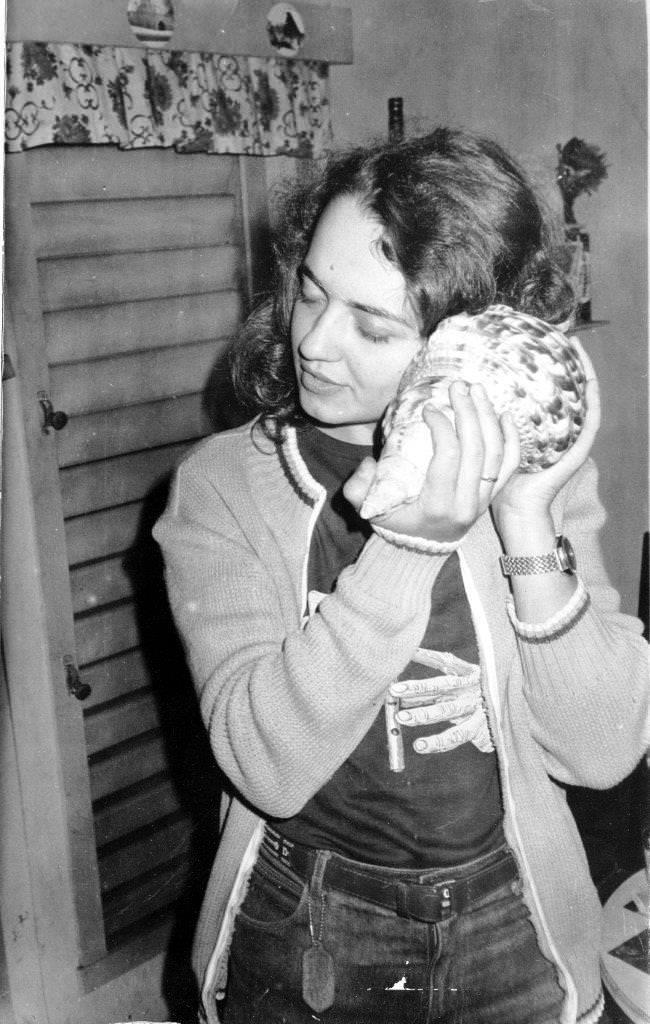 1982-1984. Инна Леонова с ракушкой