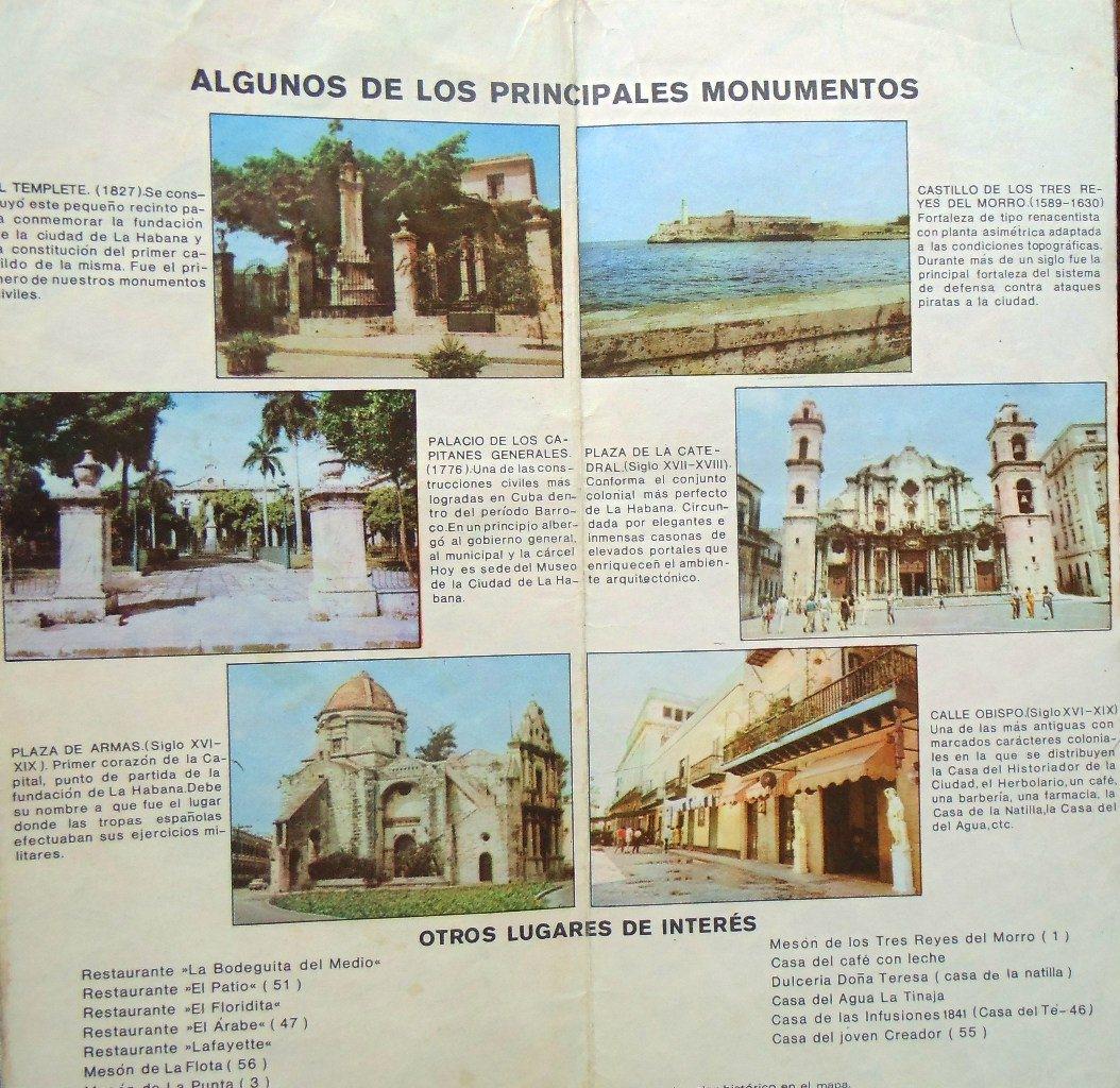 Из карты-буклета «Старая Гавана»