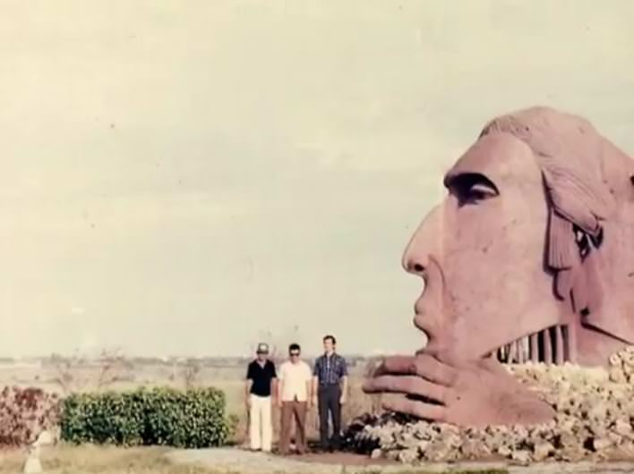 1982-1984. Провинция Лас-Тунас. Памятник «Головы индейцев».