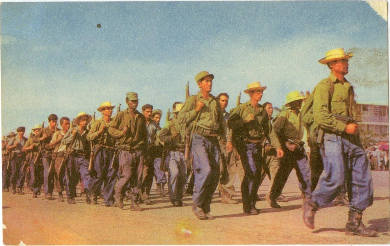 54. Открытка почтовая. Ополчение крестьян. Республика Куба. 1960-е гг.
