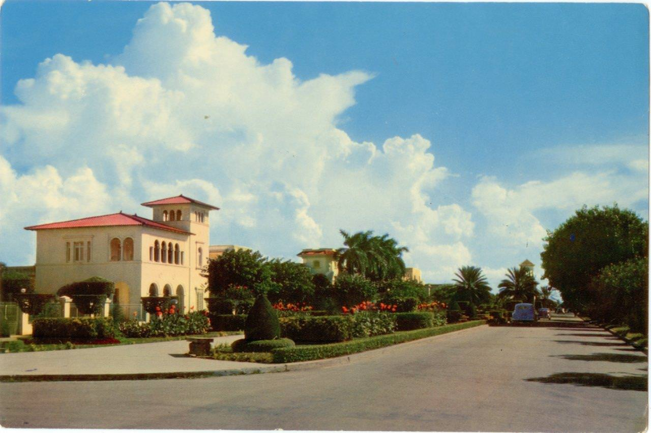 56. Карточка почтовая. Пятое авеню, Гавана. Республика Куба, г. Гавана. 1960-е гг.