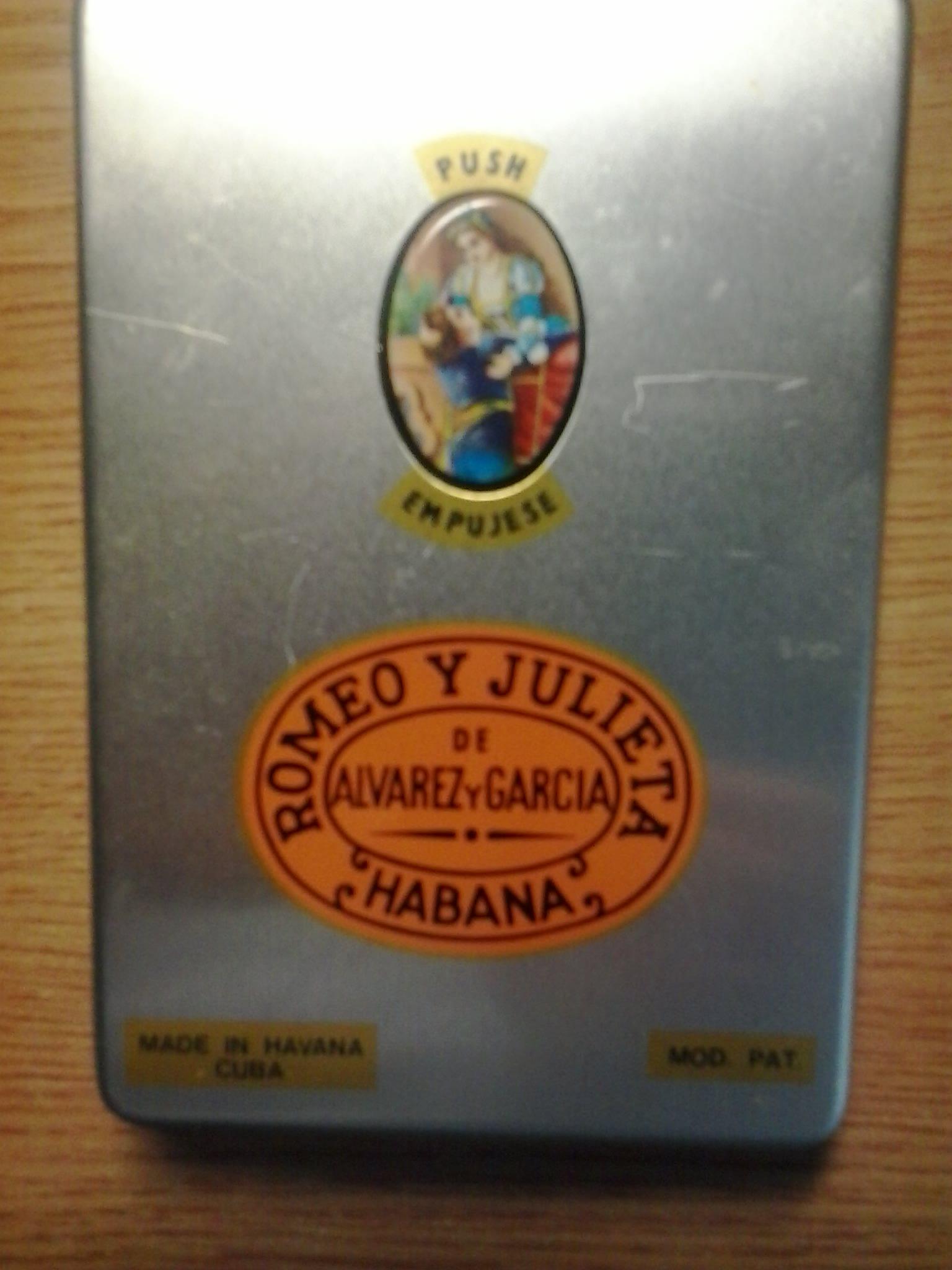 1991. Коробка из-под сигар «Ромео и Джульетта».
