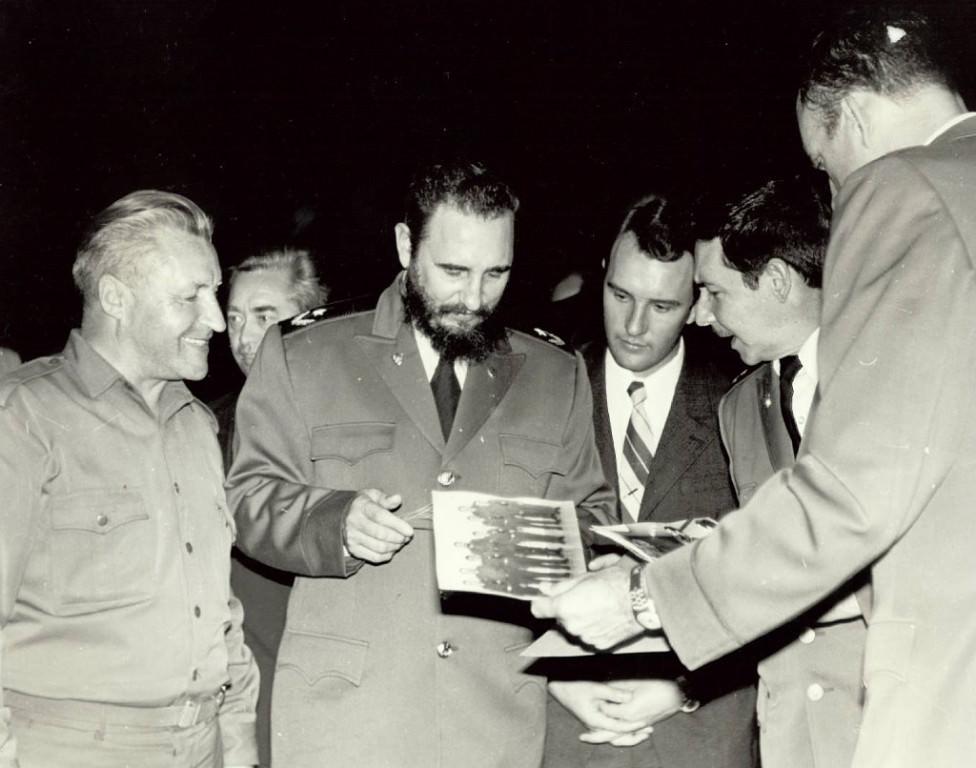 1972-1974. Фидель, Рауль, ГВС Крутских, переводчик Е. Морозов.