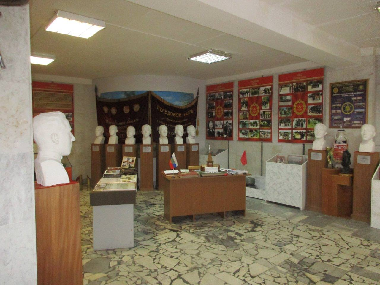 2020-02-23. Второй зал музея, где находится стенд, посвященный ГСВСК.