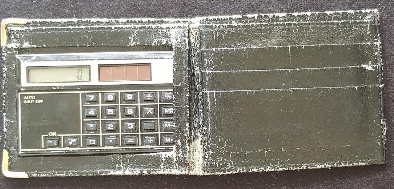Бумажник с калькулятором, 1983-1986, фото 1