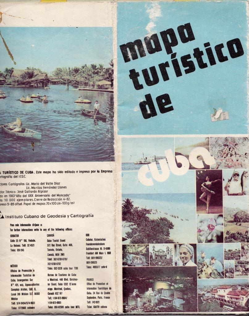 1983. Обложка кубинской карты.