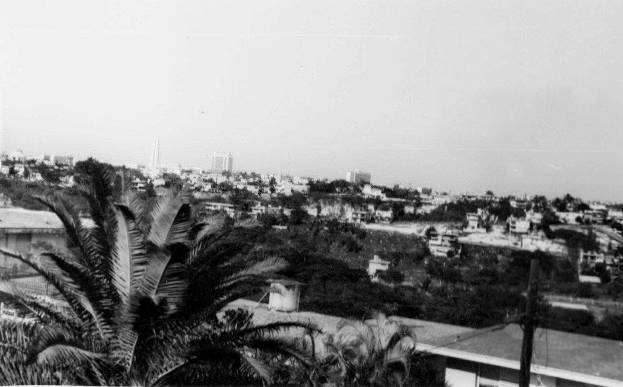 020. 1967-1969. Панорама 7 (в сторону центра, виден памятник Хосе Марти на площади Революции)