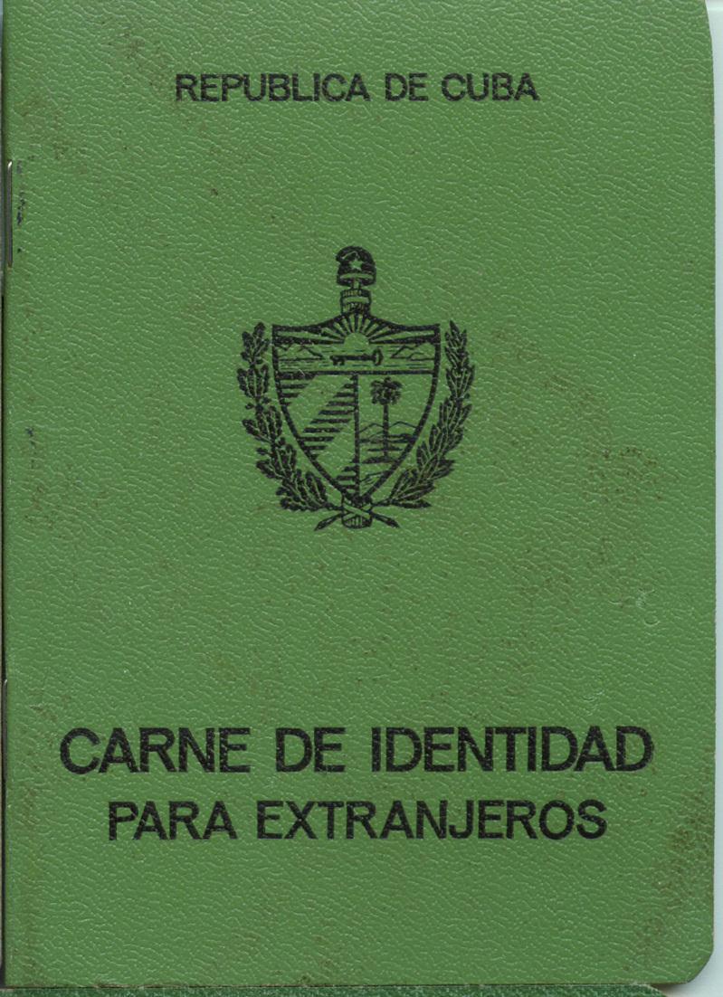 Удостоверение личности для иностранцев. Обложка.