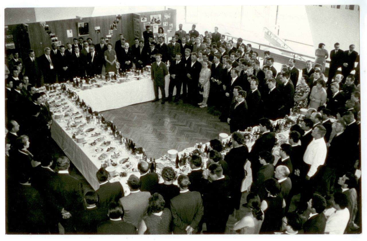 11. Прием в посольстве Кубы в Москве. СССР, г. Москва. 1960-е гг.