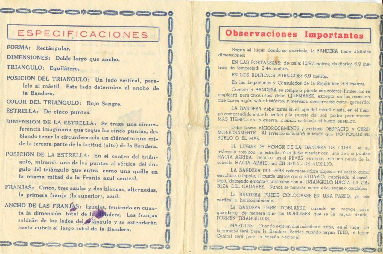 14. Памятка «Nuestra Bandera» («Наше знамя») Попова Геннадия Александровича. Разворот.