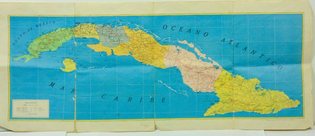 33. Карта административно-территориальная Республики Куба. Нач. 1960-х гг. Республика Куба, г. Гавана