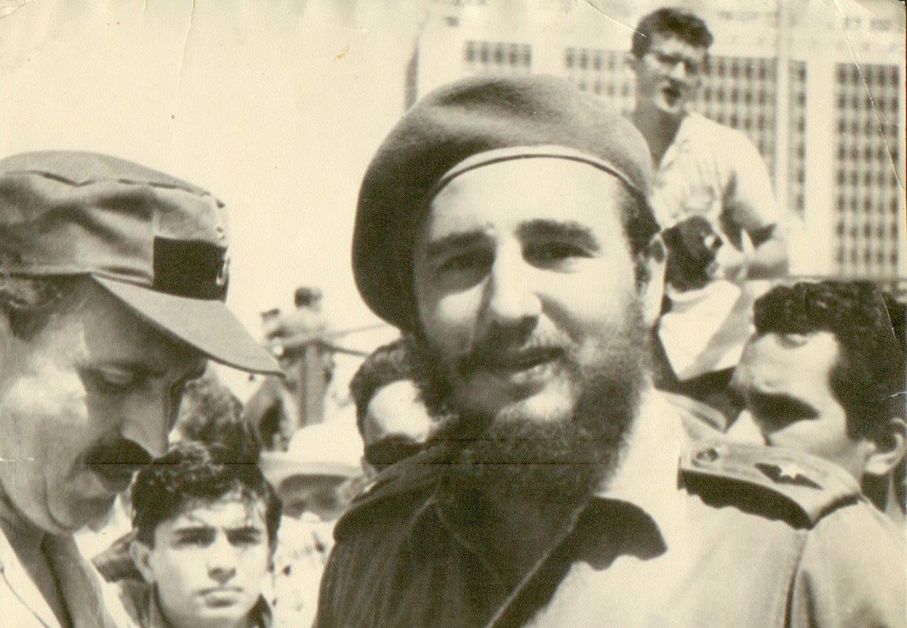 59. Фидель Кастро, премьер-министр Республики Куба, на площади Революции, г. Гавана, 1961 г. Копия. СССР. 1971 г.