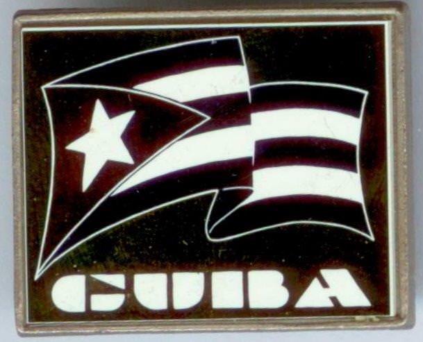 69. Значок «CUBA» Попова Геннадия Александровича. 1980-е гг. Республика Куба.