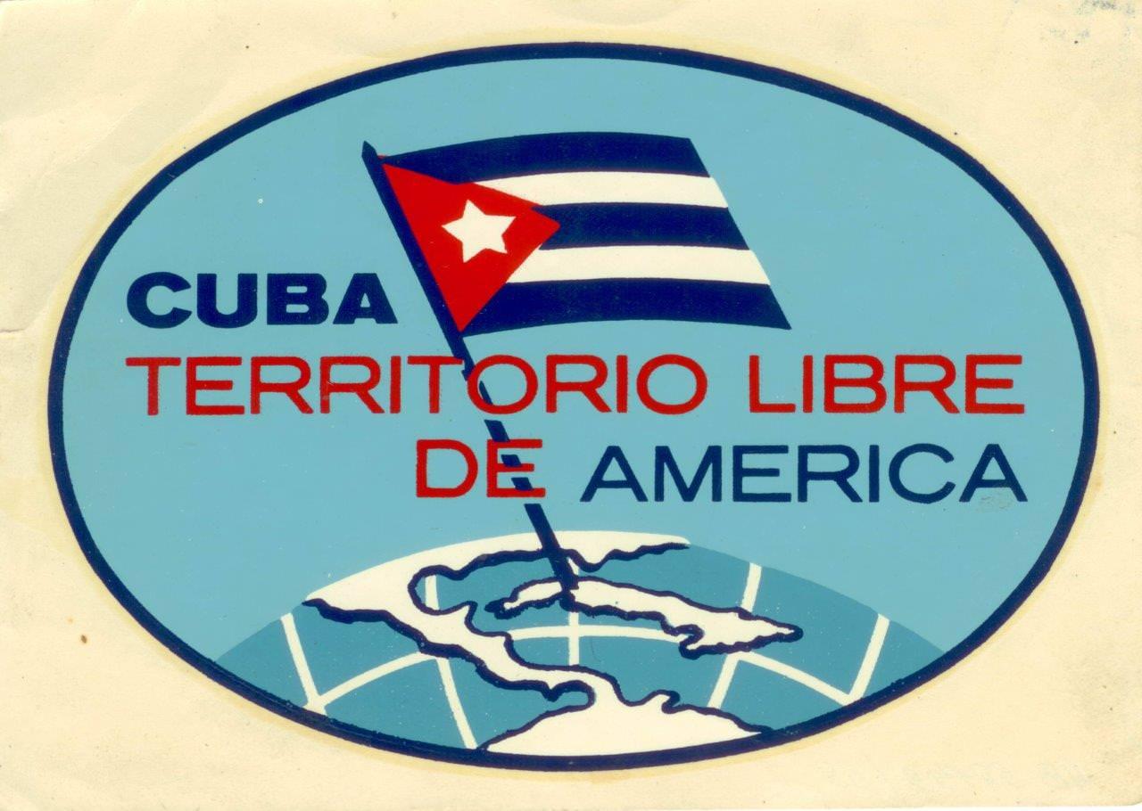 72. Наклейка «Cuba territorio libre de America» (Куба - территория свободной Америки). 1961 г.
