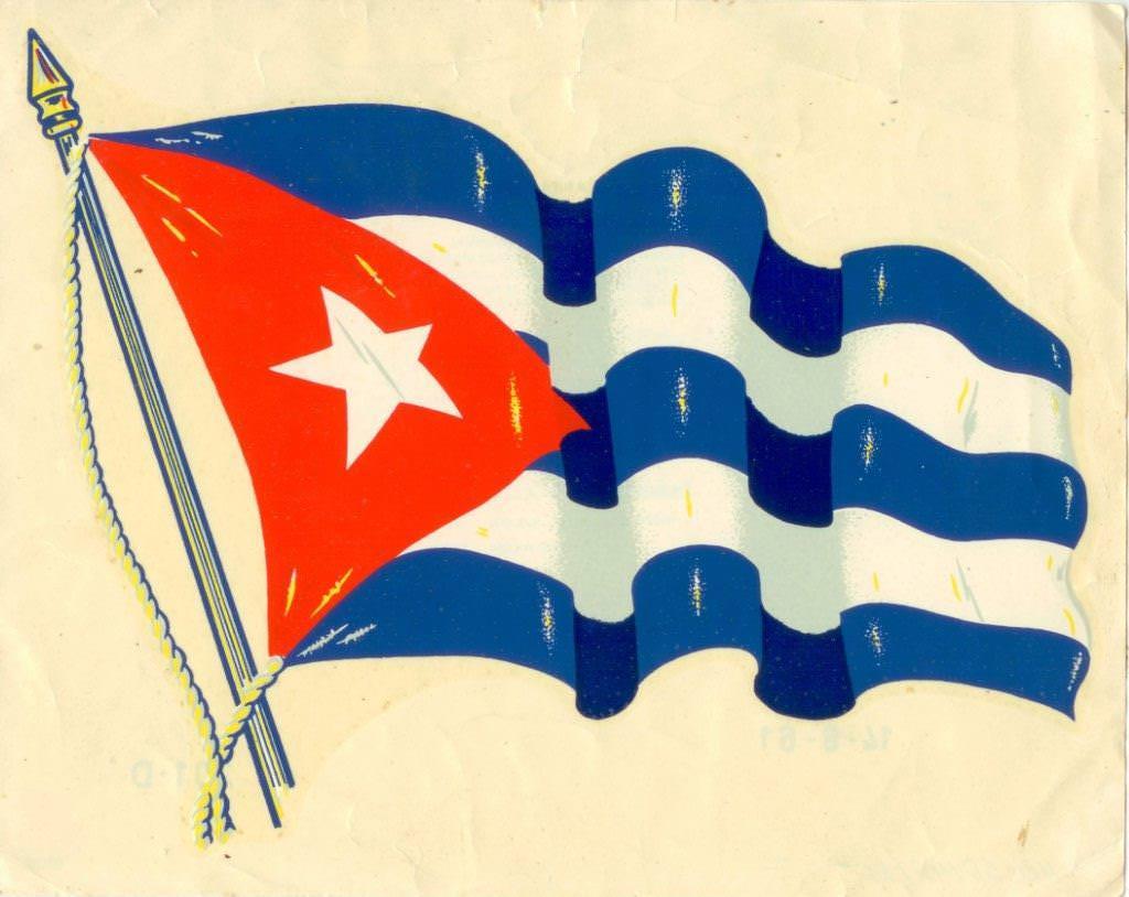 74. Наклейка. Флаг Республики Куба. 1961 г.