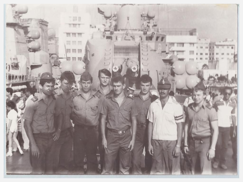 1989. В порту Гаваны - корабли ВМФ СССР.