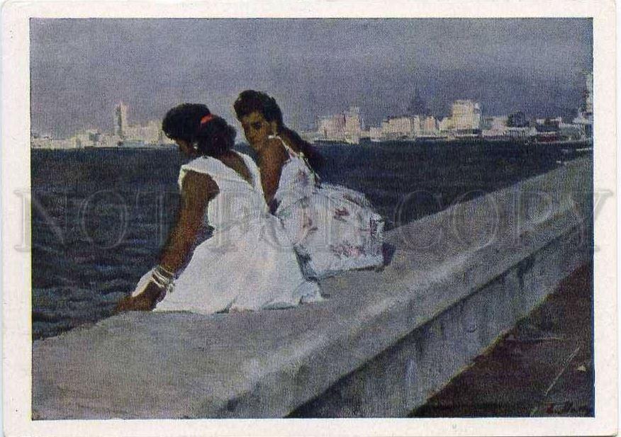 Куба, променад в Гаване.