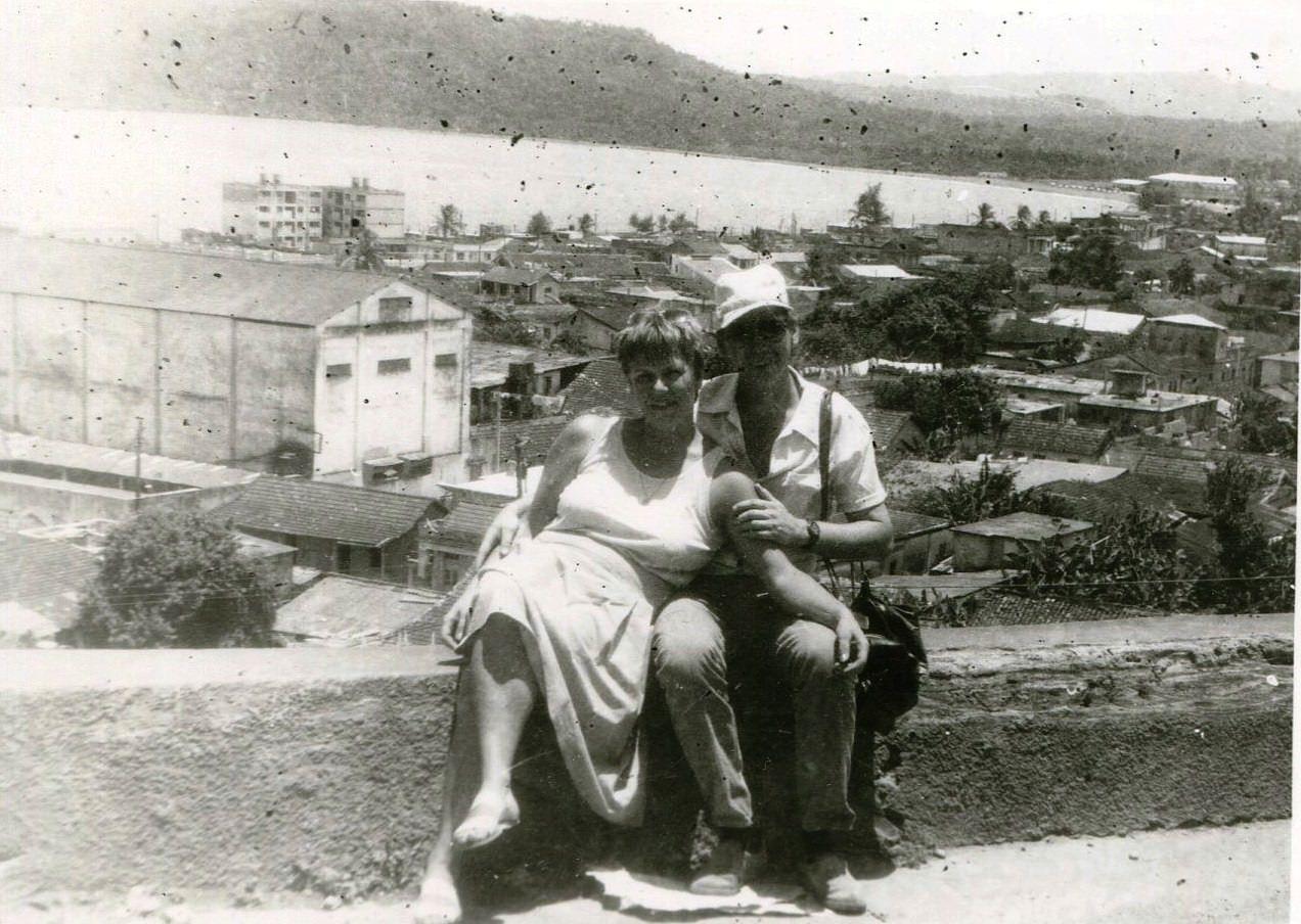 1989. Баракоа. На фоне бухты