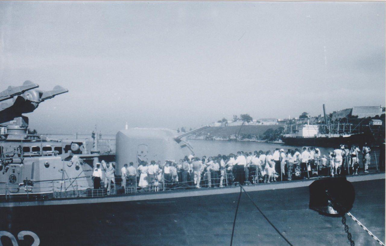 Осень 1986. Гвардейский большой противолодочный корабль (БПК) «Красный Кавказ».