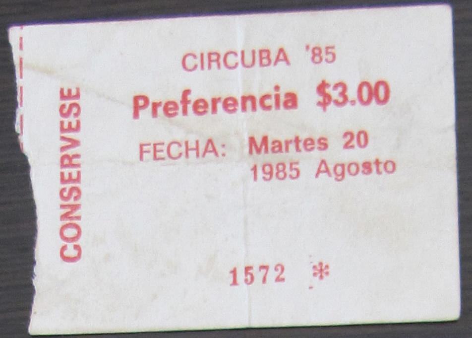 1985-08-21. Билет в Цирк.