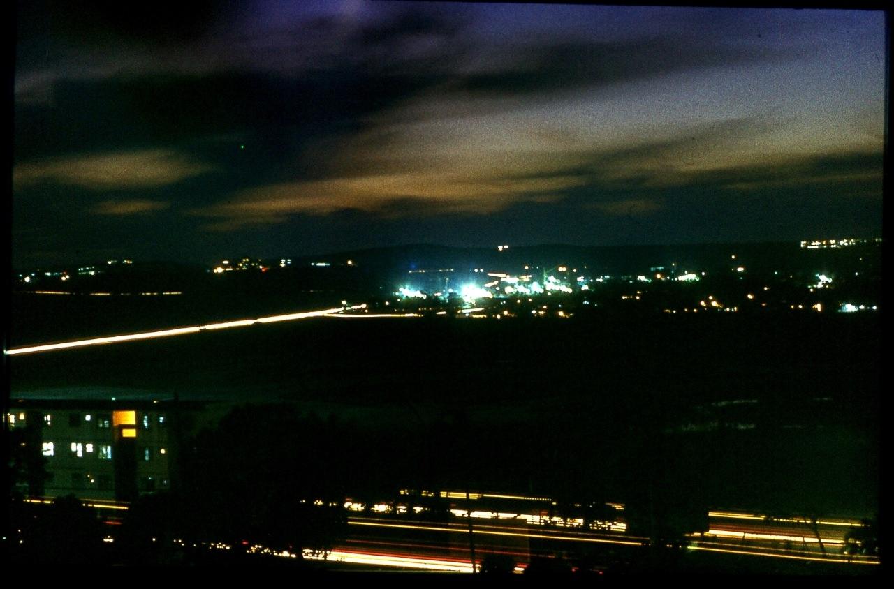 1983-1985. Серия 1. Фото 22. Дорога из Роло в Колорадо. Ночь.