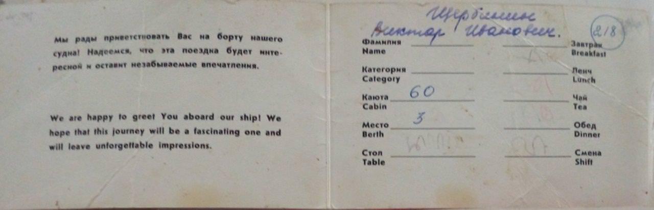 1977-04-30. «Балтика», рейс из Гаваны